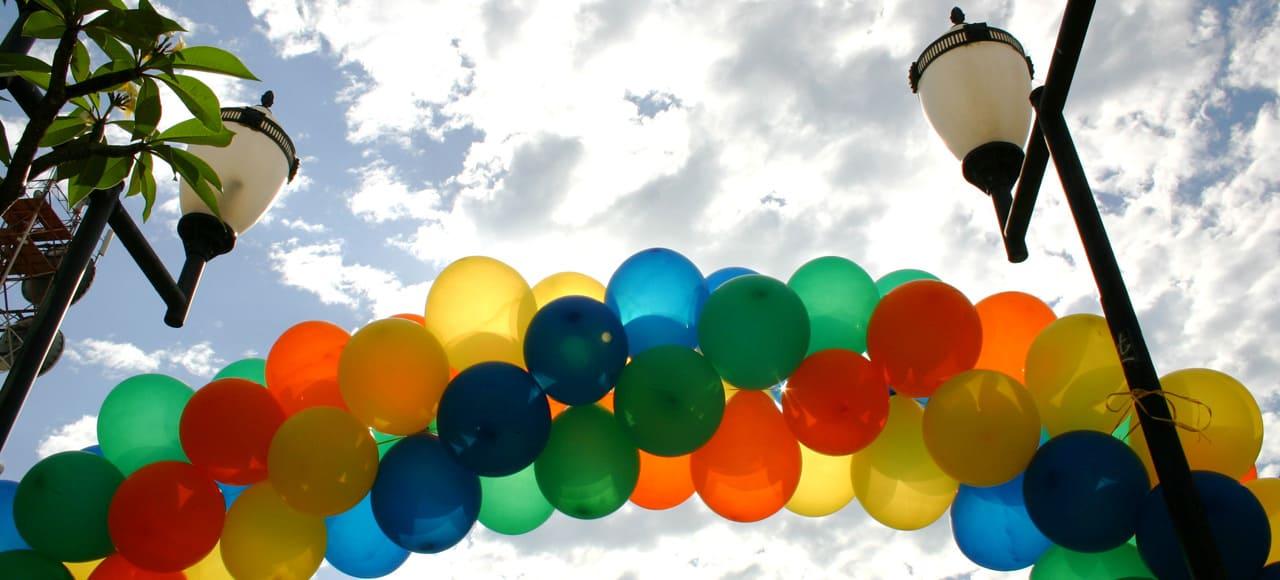 Ballon brugt som portal