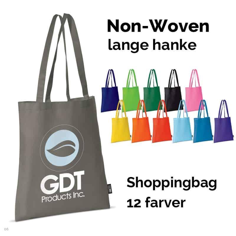 Non-Woven shoppingbag med lange hanke.