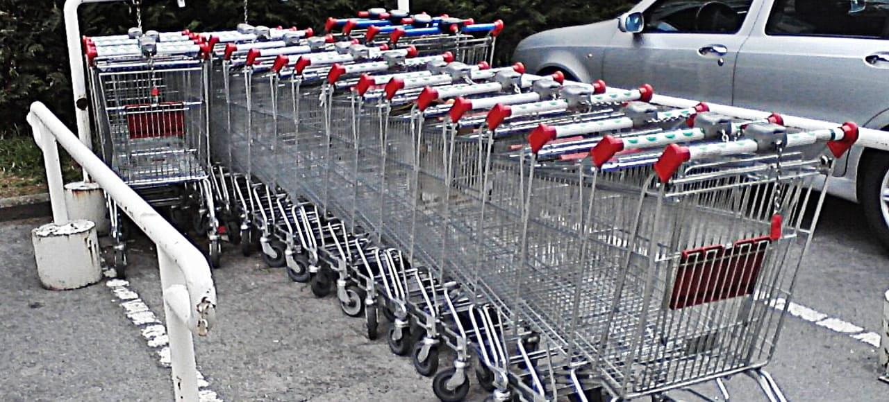 Shoppingcart til møntnøgleringe