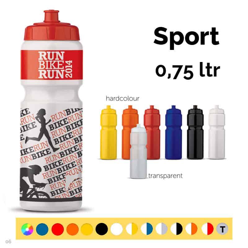 Den store drikkedunk. Farvebjælken viser de farver vi kan levere dunken i.