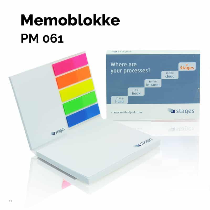 Memoblok i blødt omslag 50 x 72 + 100 x 72 + pet-markers