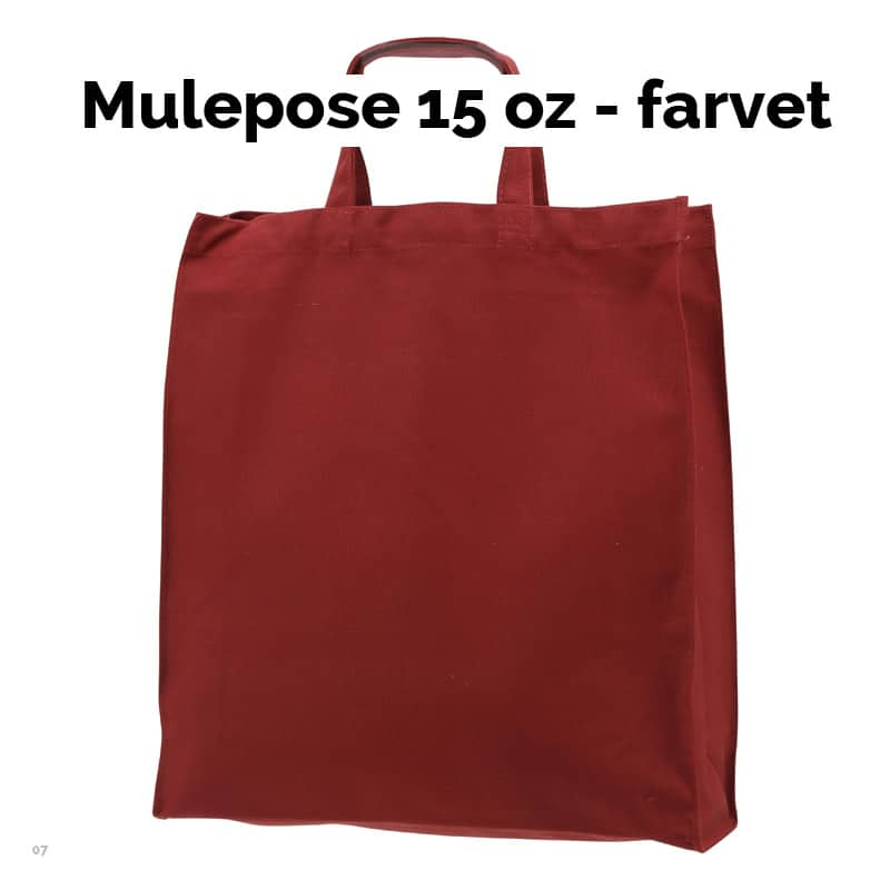 07-07-240     Mulepose - 15 oz - Farvet
