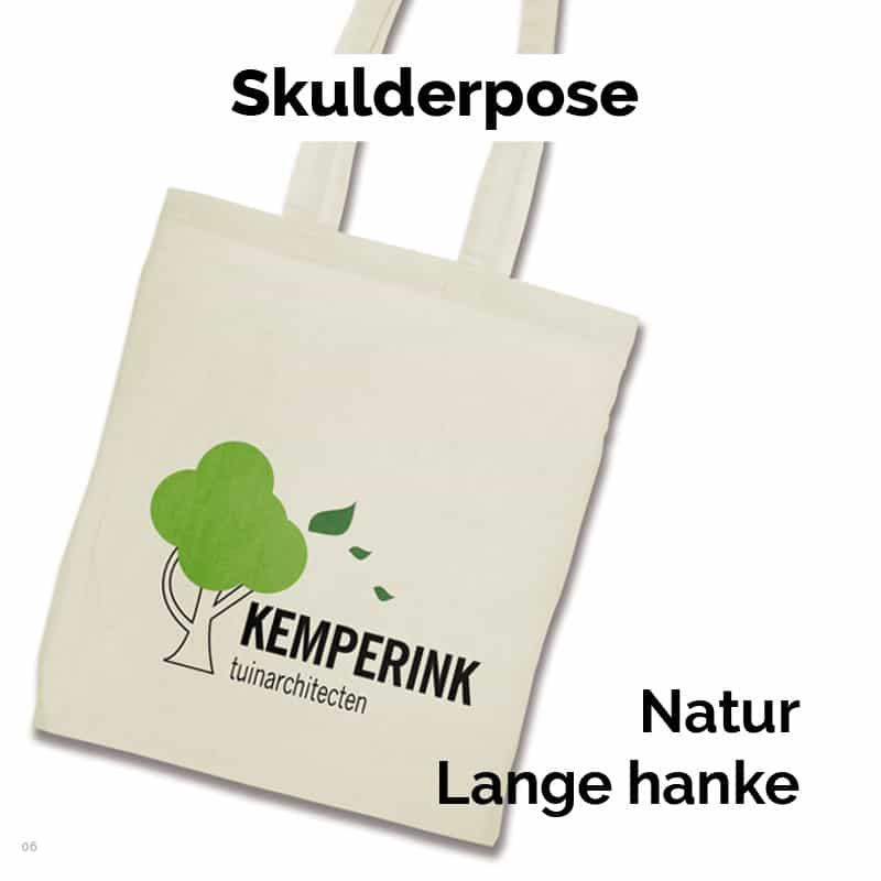 Skulderpose i bomuld med lange hanke 07-06-360
