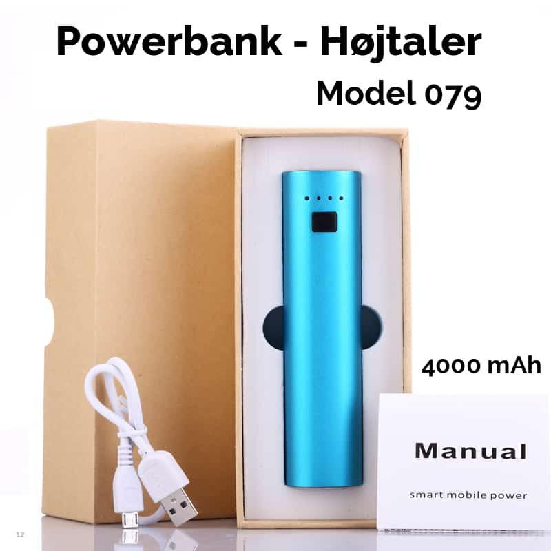 Power Bank med indbygget højtaler - 4000 mAh