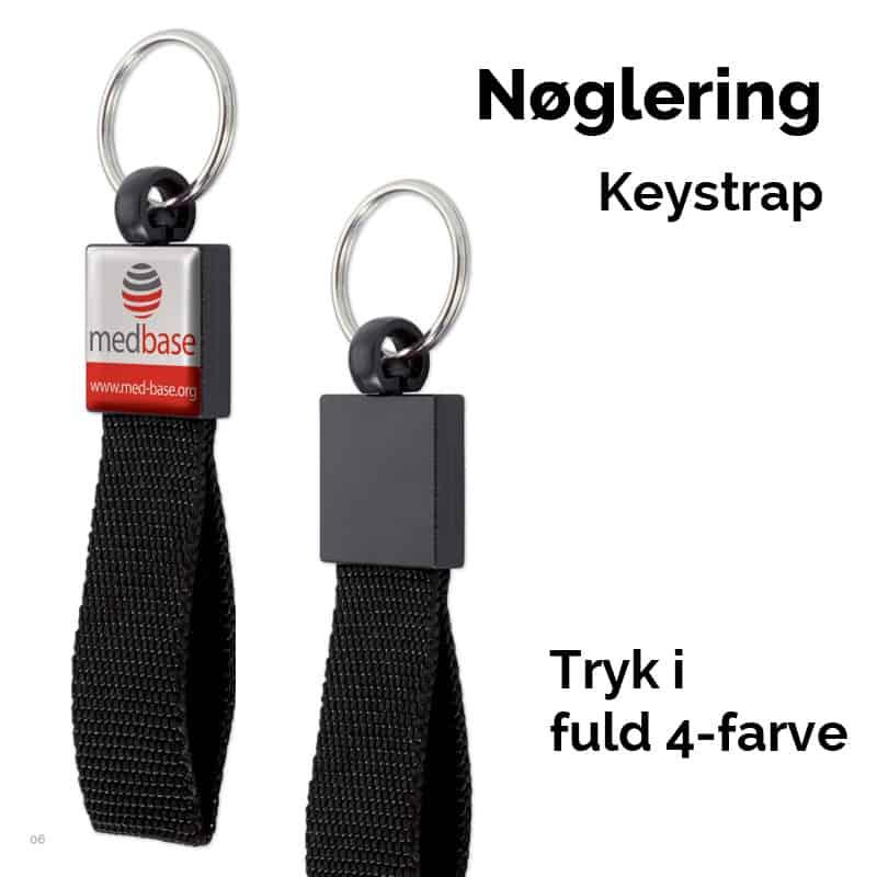 Nøglering med keystrap
