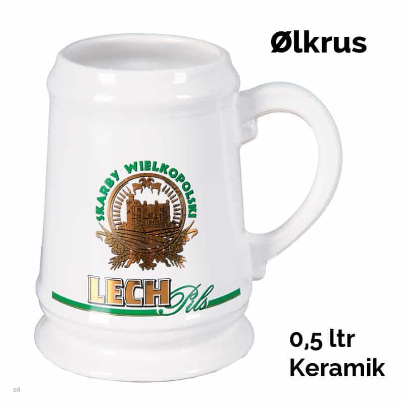 Ølkrus i keramik