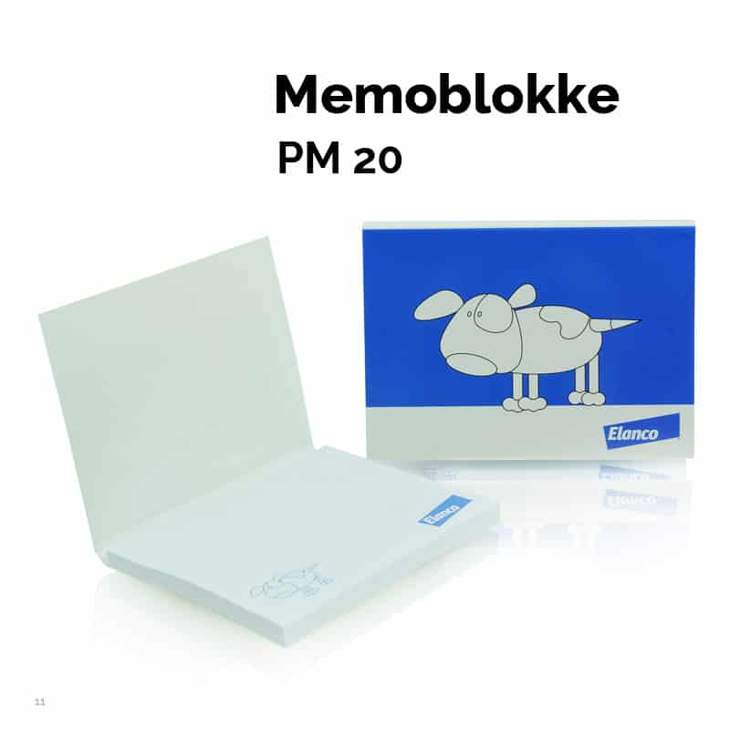 Momoblok PM020. 100 x 72 med blødt omslag