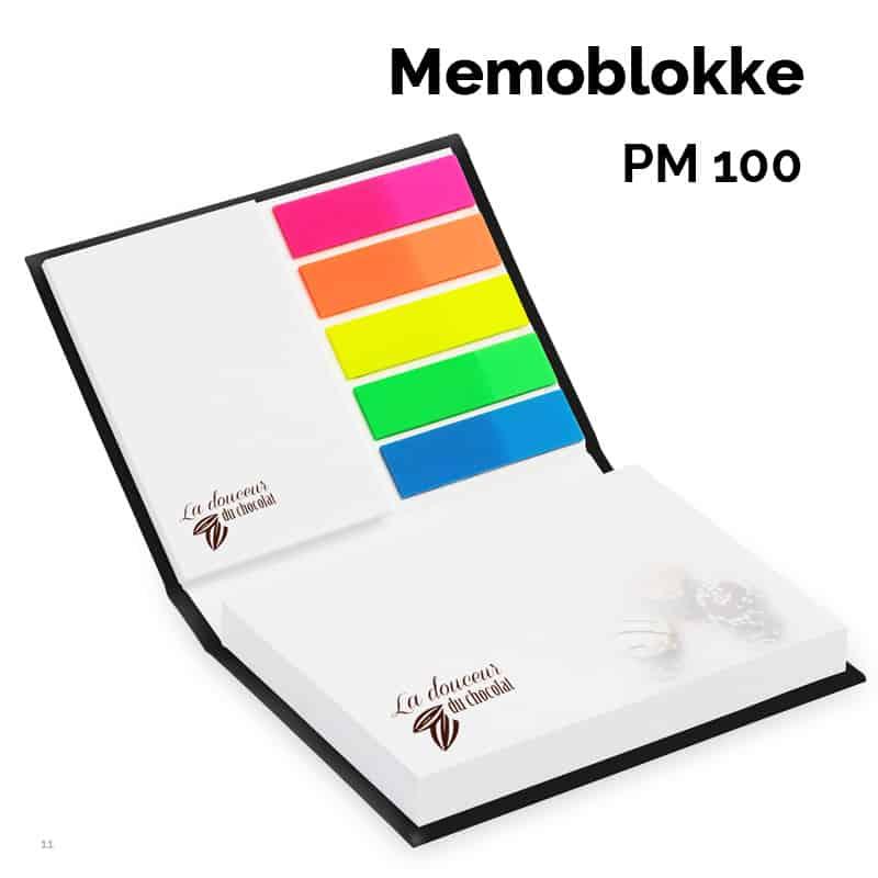 Memoblokke - 50 x 72 mm + 72 x 100 + petmarker i hårdt omslag