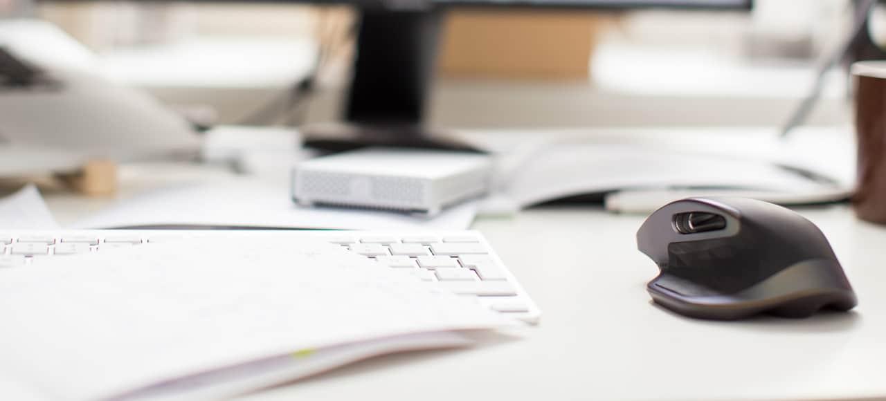 Intet skrivebord uden mus og musemåtte