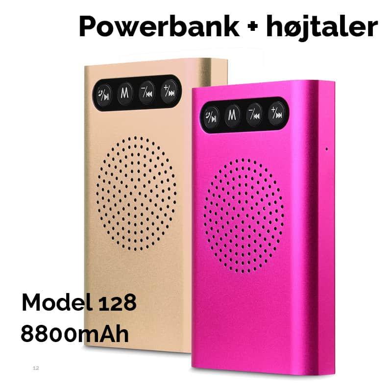 Power Bank med Bluetooth højtaler. 8800 mAH