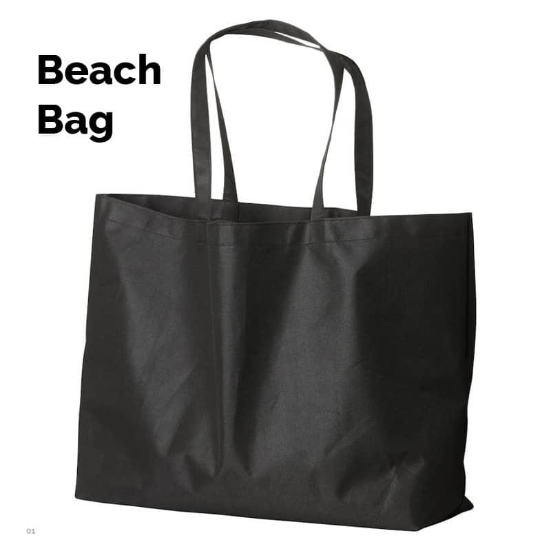 Strandtasken der rummer det hele