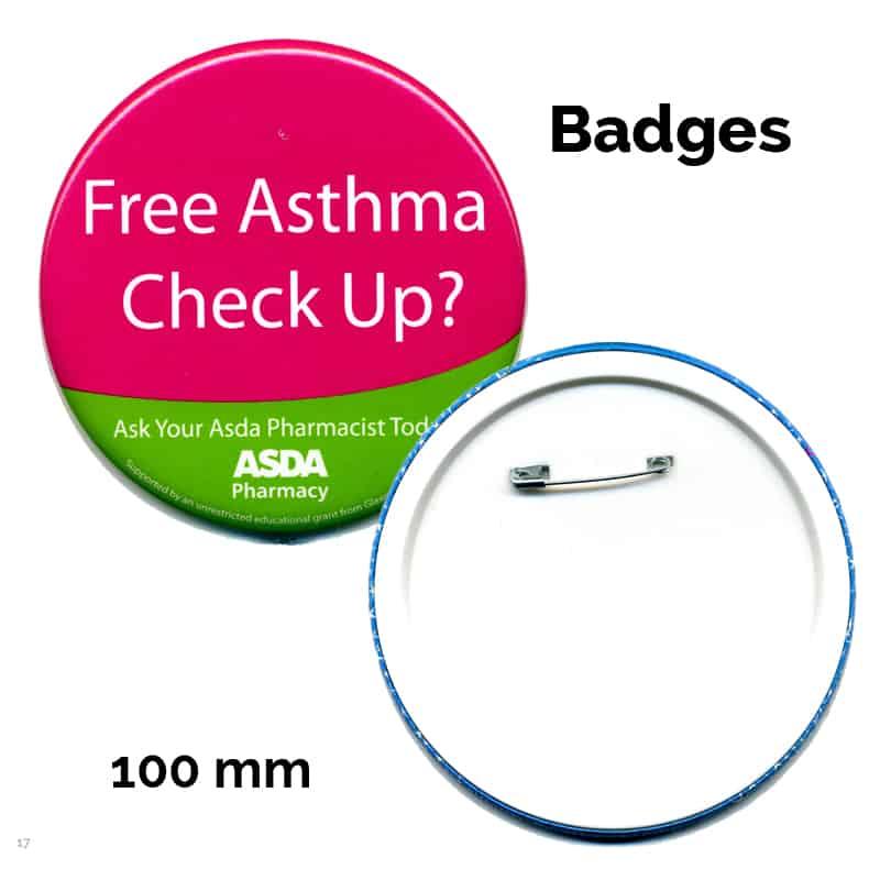 100 mm badge