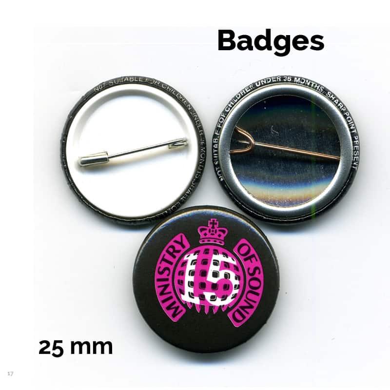 25 mm badge