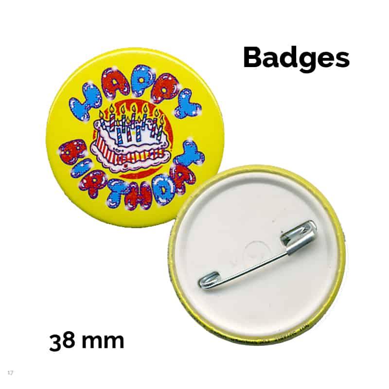 38 mm badge