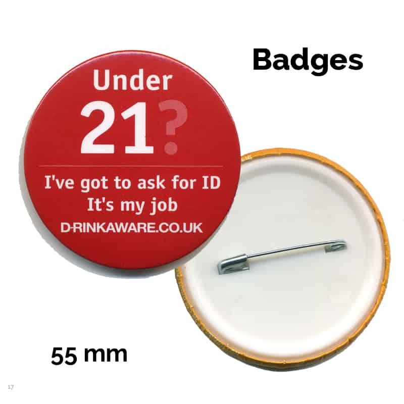 55 mm badge