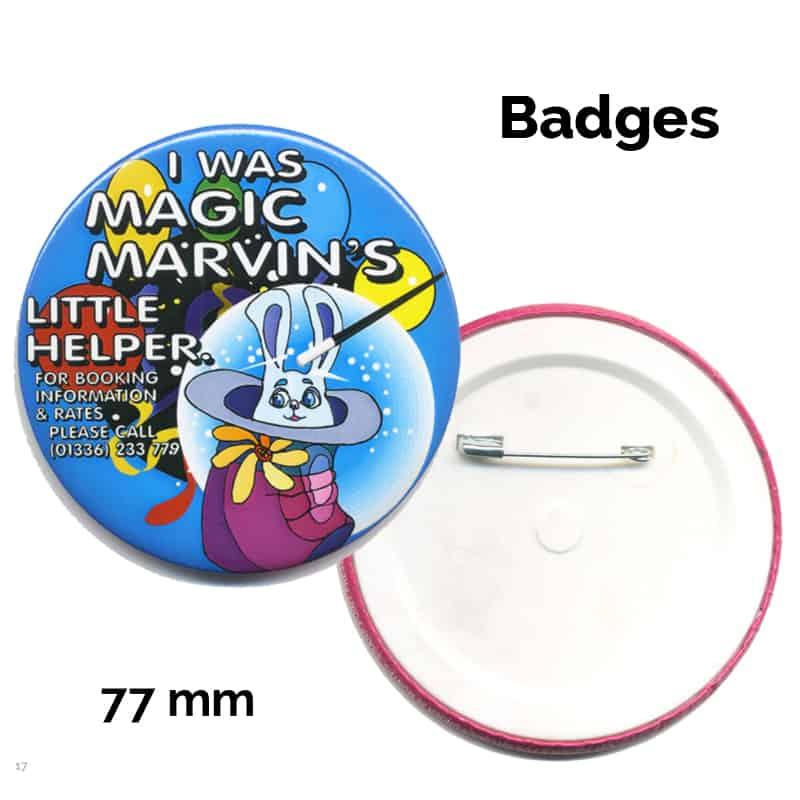 77 mm badge