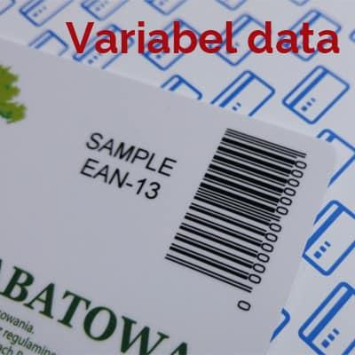 Kort med variabelt data