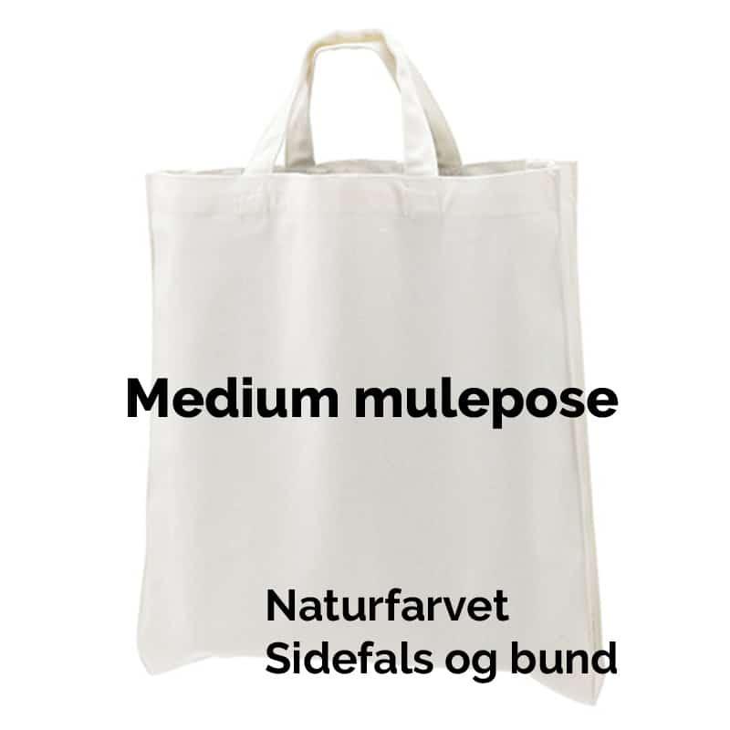Medium kraftig mulepose med bund og sidefals