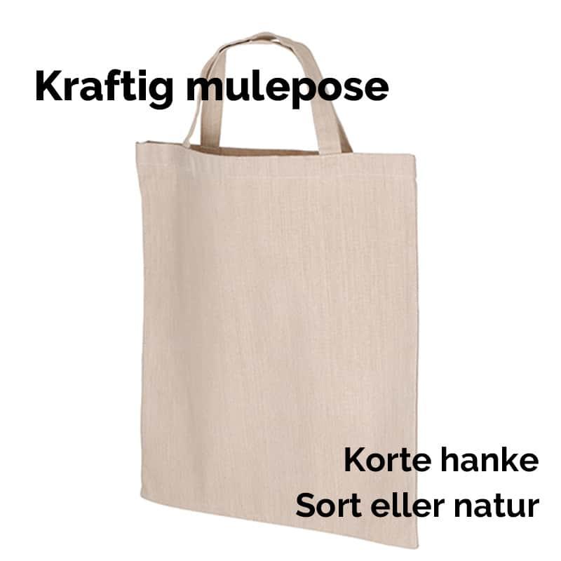 Mulepose med almindelige hanke
