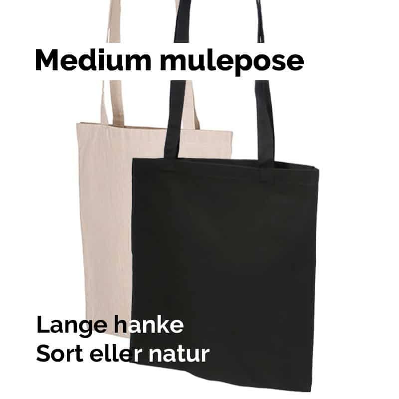 Medium mulepose med lange hanke