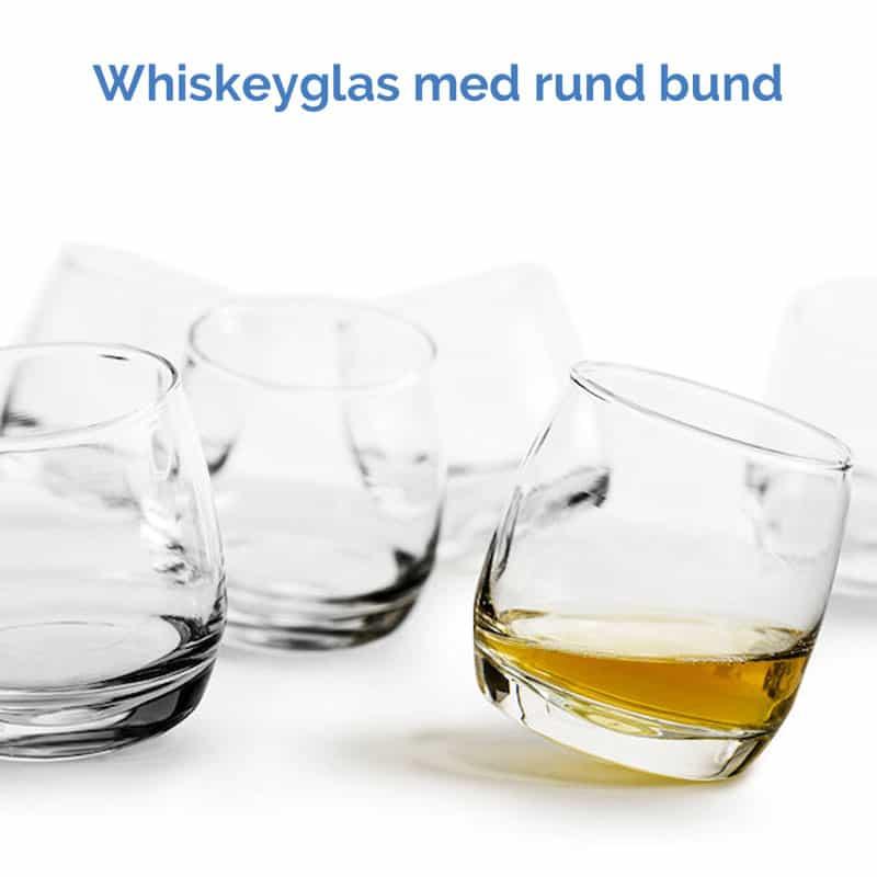 Whiskeyglas med rund bund