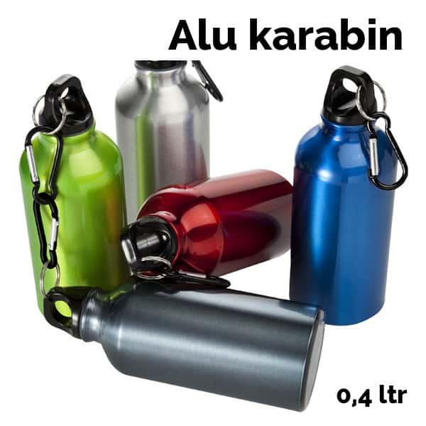 Drikkedunk i aluminium. Kan leveres i hvid eller alufarvet. Tryk i fuld 4-farve.