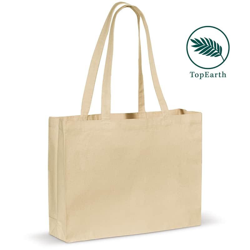 07-06-161    Shoppingbag med sidefals - Økologisk