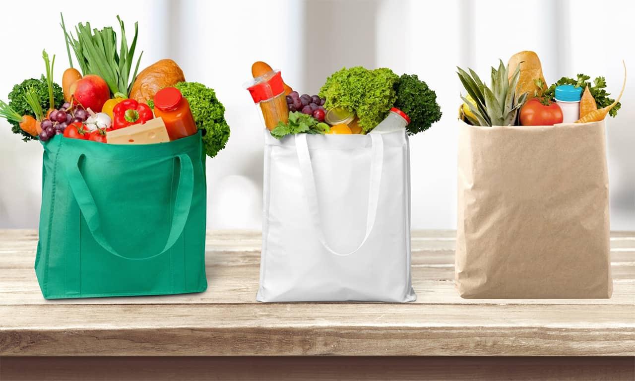 Stofpose med grøntsager